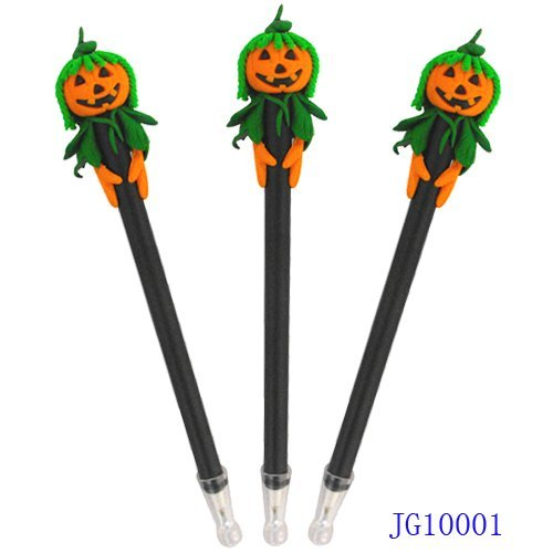 Handicrafted Polymer Clay Halloween Gift Pumpkin Head Ball Pen Ballpoin Pen Promotional Gift 1200pcs