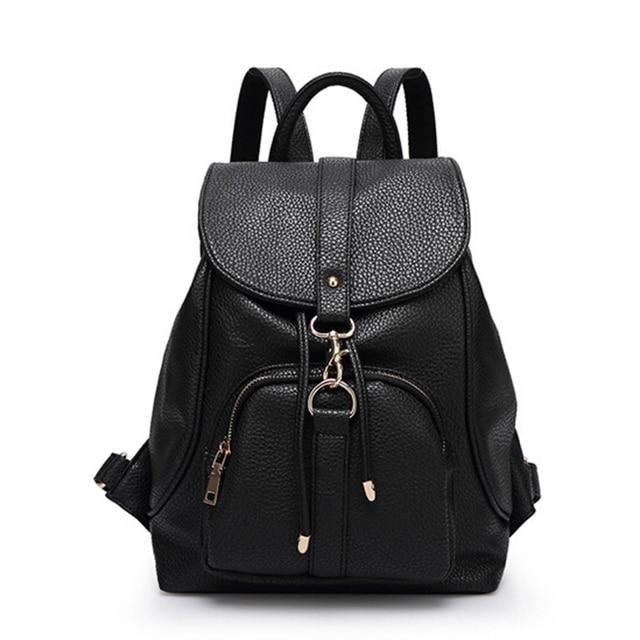 2016 Fashion Backpacks School Bag For Teenage Girls Korean Big Book Female Leather Rucksack Women