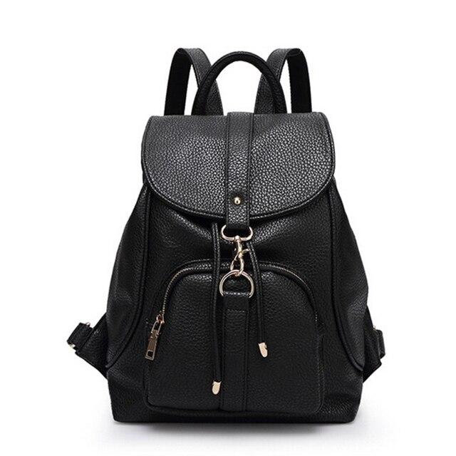 4d76b5e200 2016 fashion backpacks school bag for teenage girls korean big book bag  female leather rucksack women preppy backpacks sac a dos