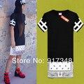 2014 venta caliente de moda Hip Hop camisetas T-Shirt alto y desistir Paisley Bandana imprimir gráfico camiseta Unisex para hombres y mujeres