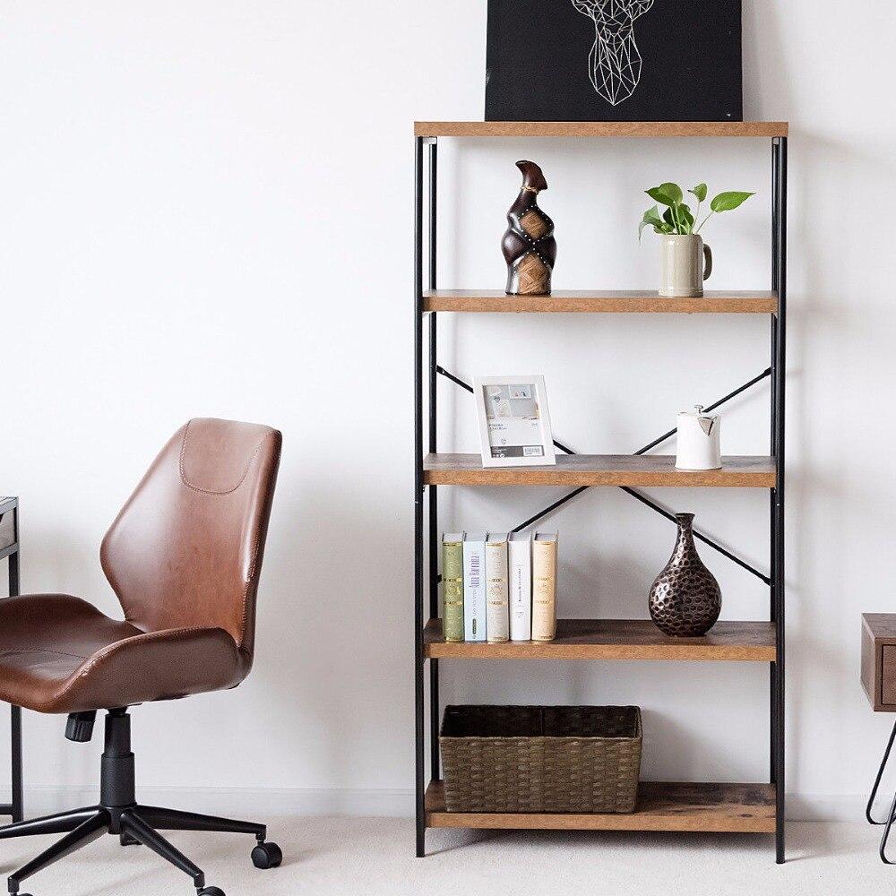 Giantex Multipurpose Open Bookcase Industrial Shelf Display Rack Storage Organizer Home Furniture HW59370 цена