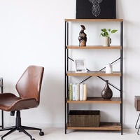 Giantex Multipurpose Open Bookcase Industrial Shelf Display Rack Storage Organizer Home Furniture HW59370