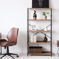 Giantex Multipurpose Open Bookcase Industrial Shelf Display Rack Storage Organizer Home Furniture HW59370
