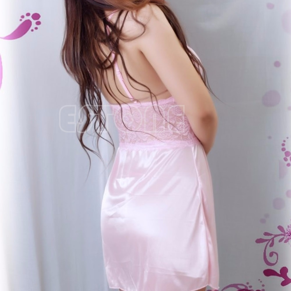 d92521b2f2 Lady Sexy Lingerie Silk Lace Chemise Dress Babydoll G string Nightwear  Sleepwear 3 Colors-in Babydolls   Chemises from Novelty   Special Use on ...