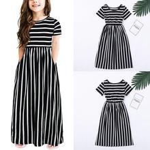 Baby Girl Dress Toddler Baby Girls Short Sleeve Striped Print Dress