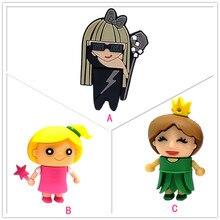 Newest design cartoon girls pen drive 4GB 8GB 16GB 32GB 64GB cute memory stick u disk Personalized gift real capacity pendrive