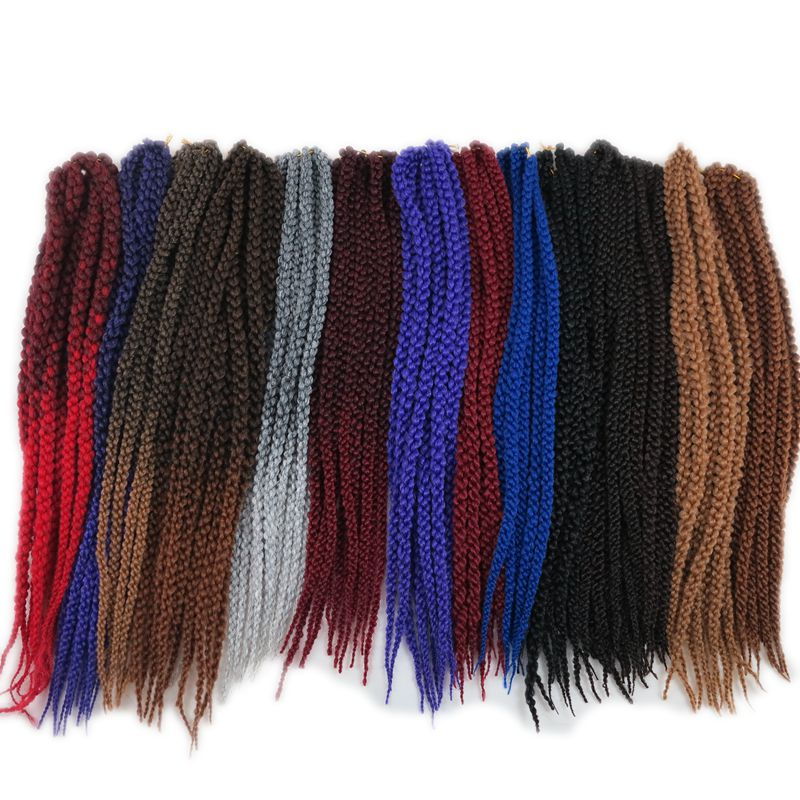 Luxury For Braiding Ombre Synthetic Hair Extensions 22 55cm 120g 12roots pack 10packs lot 3D Cubic
