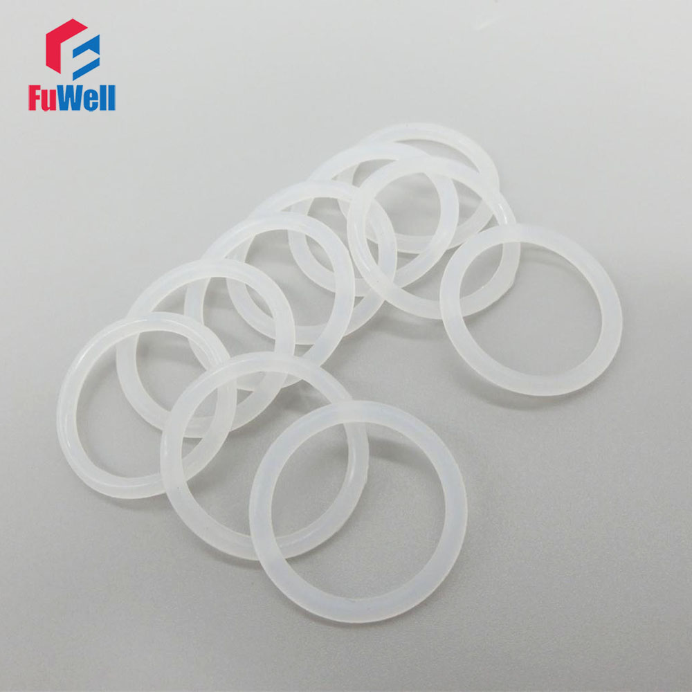 White Silicon O-ring seals 1.9mm Thickness Food Grade O Ring Gasket 6/7/8/9/10/11/12/13/14/15/16mm OD Rubber Sealing Ring