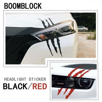 Car Styling Scratch Stripe Headlight Decal Sticker 40 x 12cm For Renault Megane 2 Captur Mitsubishi ASX Jeep Wrangler Peugeot image