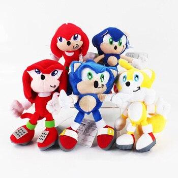 5 стилей 20 см супер плюшевый Соник куклы Sonic Boom Мультяшные плюшевые игрушки ТВ фигурка Sonic кукла бесплатная доставка >> Shop3095005 Store