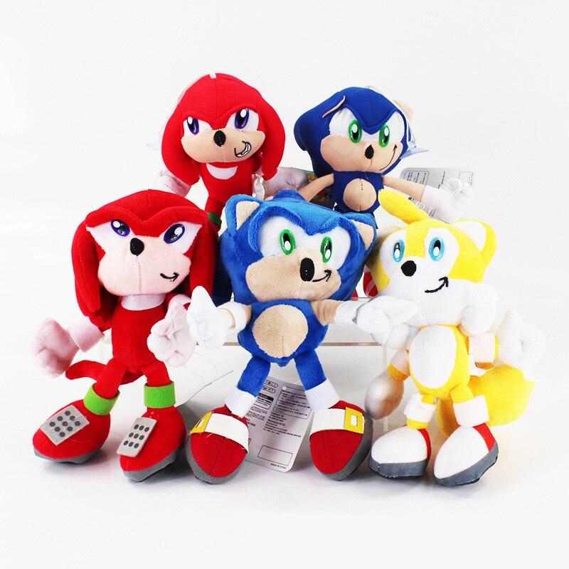 5 Styles 20cm Super Sonic Plush Dolls Sonic Boom Plush Toys Cartoon TV Sonic The Hedgehog Figure Doll Free Shipping sonic boom 2