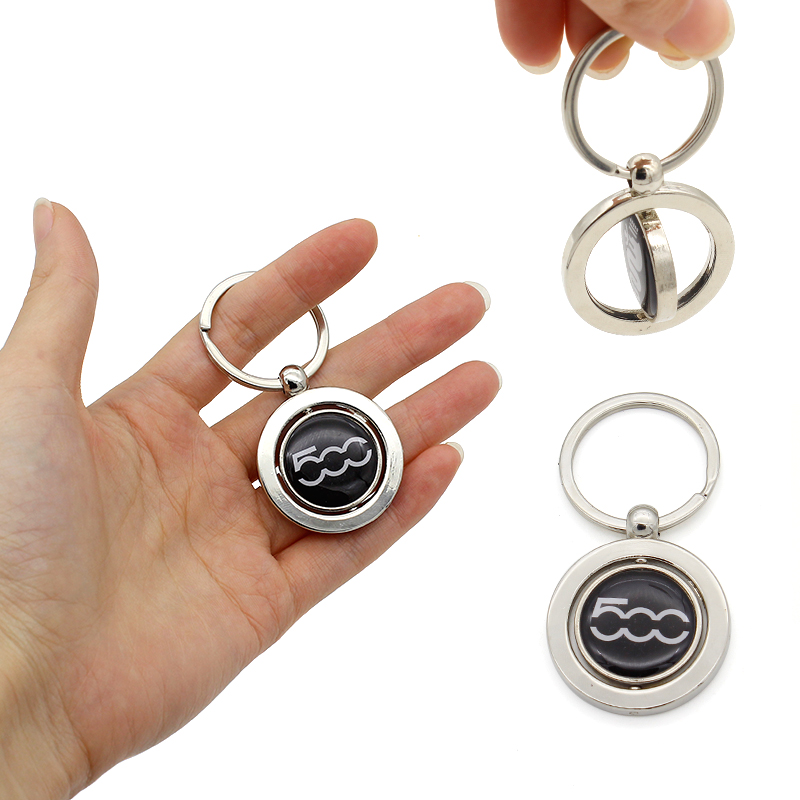 CHAMPLED SAAB Rhinestones Emblem Keychain Keyring Round Logo Double Symbol Sign Badge Personalized Custom Logotipo Quality Metal Alloy Nice Gift for Man Woman