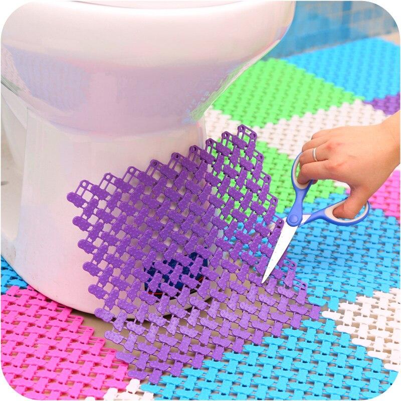 aliexpresscom acheter salle de bain antidrapant pvc tapis de bain tapis hydrofuge color au sol tapis carr rectangle forme peut rejoindre ensemble de - Tapie Salle De Bain Aliexpress