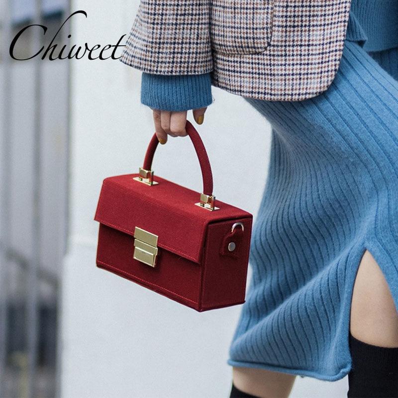 Luxury Handbags Top Handle Box Women Bags Gold Buckle Designer High Quality Messenger Bags Female Famous