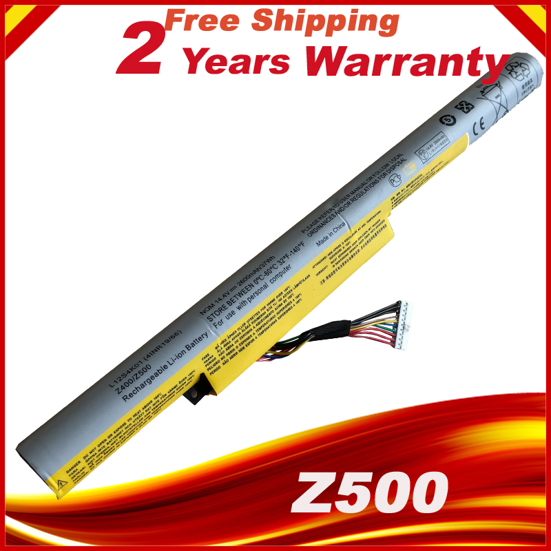 Laptop Battery For LENOVO For Ideapad Z400 Z400S Z400A Z400T Z510 Z510A Z500 Z500A L12S4K01 L12L4K01
