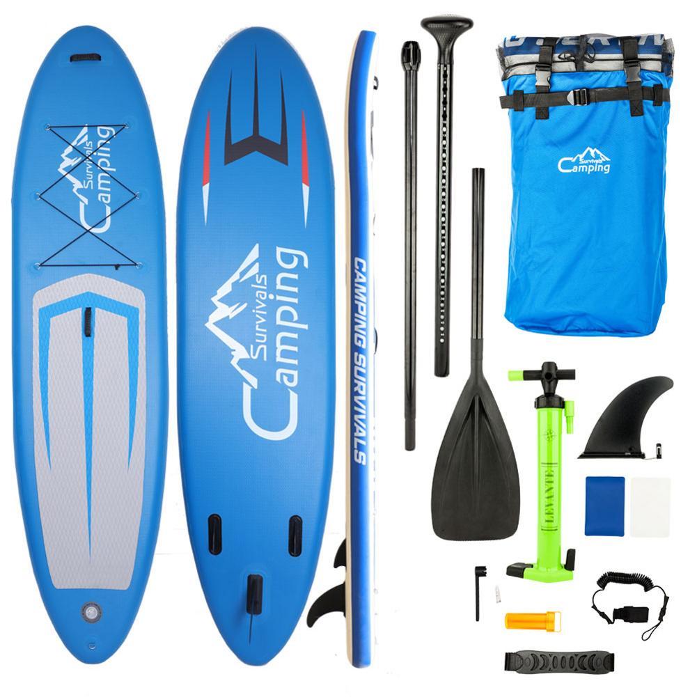 KS-SP1009 11' adulte gonflable SUP Stand Up Paddle Board bleu gris noir
