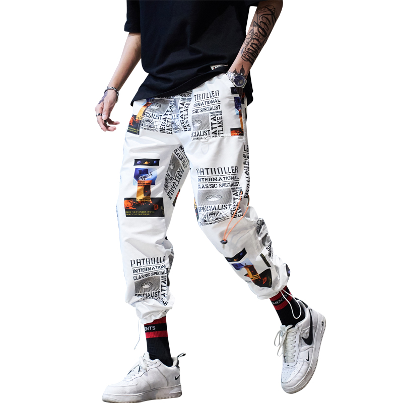 drop shipping Hip Hop Sportswear Ankle-length Pants Casual Sweatpants Fitness Joggers Men Pants Street Trousers ABZ40(China)
