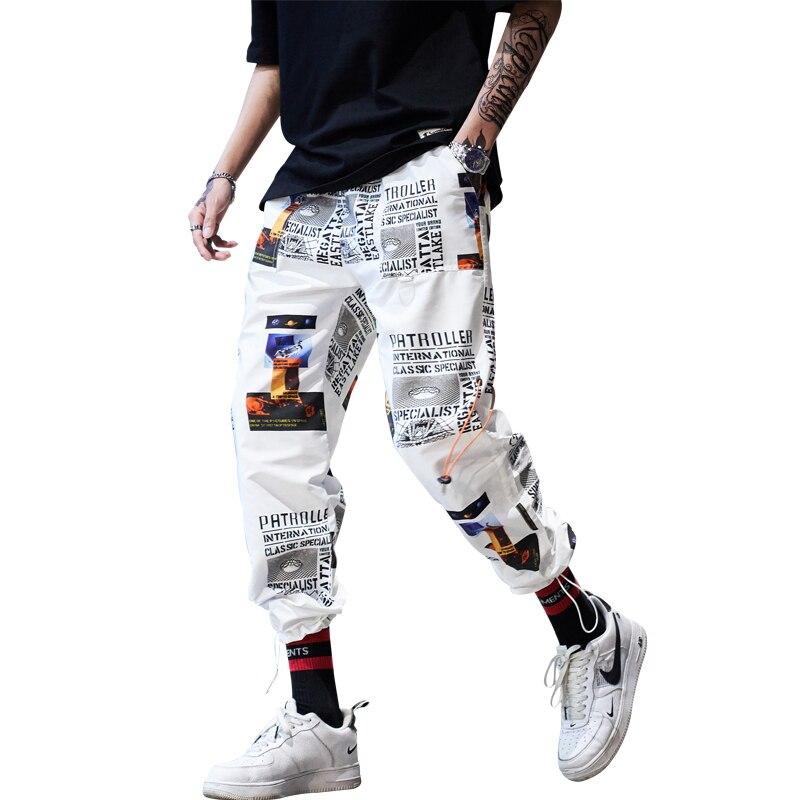 Envío de la gota de Hip Hop ropa deportiva tobillo longitud pantalones casuales pantalones de Fitness pantalón pantalones de los hombres de la calle pantalones ABZ40