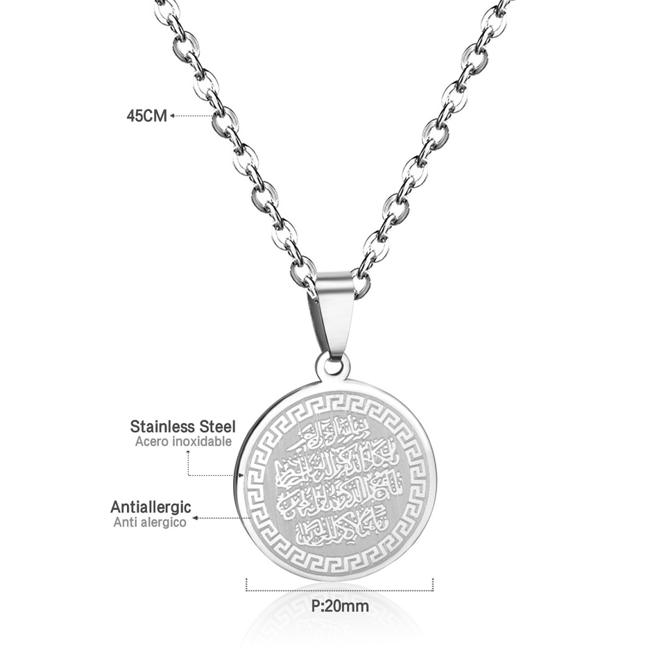 LUXUKISSKIDS Wholesale Dome Blessed Necklace Christian Pendant Necklace  Scripture Jewelry Scripture Necklace
