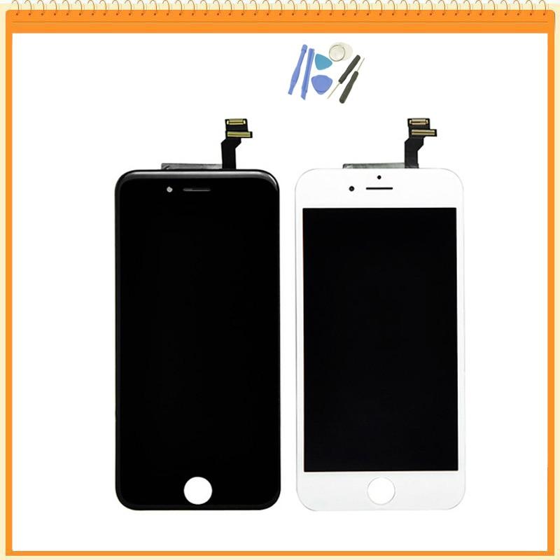 imágenes para Calidad AAA Sin Píxeles Muertos Para el iphone 6 de 4.7 pulgadas Pantalla LCD Con Digitalizador de Pantalla Táctil + Herramientas