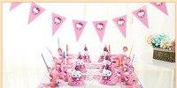82 piezas Sophia primera fiesta de cumpleaños de los niños decoración tema de la princesa Sophia suministros fiesta de cumpleaños del bebé paquete tablewa