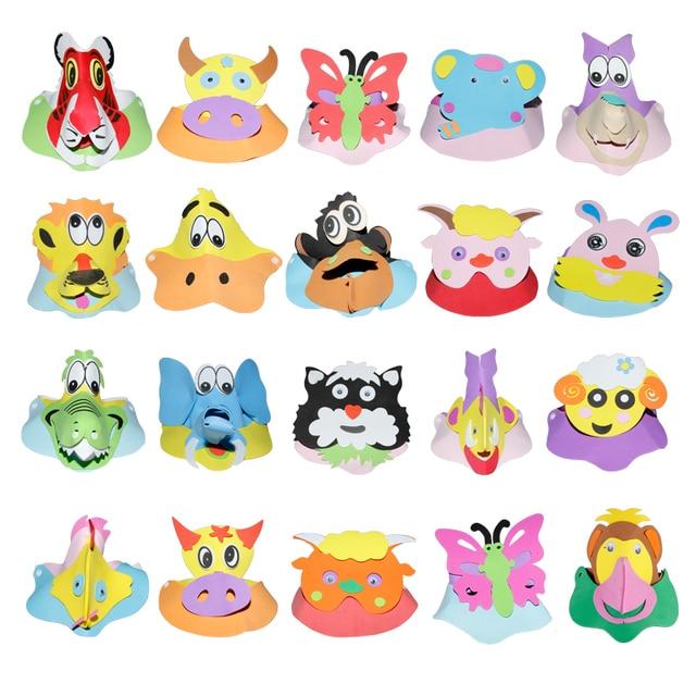 1pcs/ Free delivery Animal headdress Cartoon hat EVA animal hat party birthday Show children Preschool education Game show props