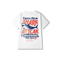 2017 Retro Print Funny T shirt Men Russia Shark Rock Punk Tee Shirt Homme Game Of Throne Japanese Harajuku Round Neck 70B0229