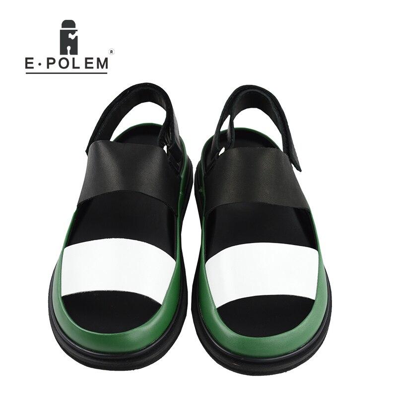 Été hommes en cuir véritable sandales respirant hommes chaussures de mode de haute qualité mâle plate forme Rome sandales offre spéciale-in Sandales homme from Chaussures    2