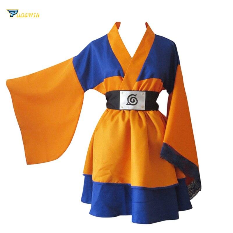 Naruto Uzumaki Naruto Child Lolita Kimono Dress Anime Cosplay Costume