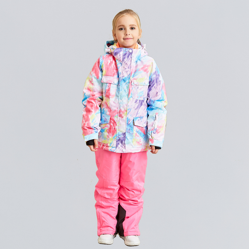 Image 3 - High Quality Kids Ski Suit Super Warm Boys Girls Ski Jacket Pants  Set Waterproof Snowboarding Jacket Winter Children Skiing SuitSkiing  Jackets