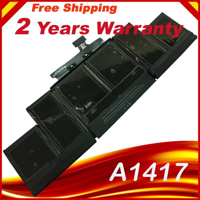HSW A1417 batterie d'ordinateur portable pour APPLE macbook pro A1398 MC975 MC976 pour macbook pro 15 en batterie d'ordinateur portable 8460 mAh pour macbook pro