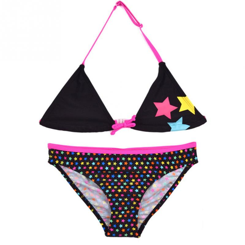 Children Bikini Suit Cute Two Piece Swimsuits Girls/Toddler star printing Bikini