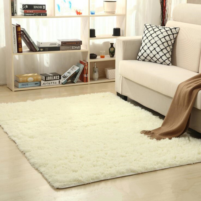 WINLIFE Super Soft Silk Wool Rug Indoor Modern Shag Area Rug Silky on