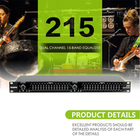digital karaoke audio dsp effectro karaoke stereo amplifier equalizer EQ 215 Dual Channel 15 Band Equalizer