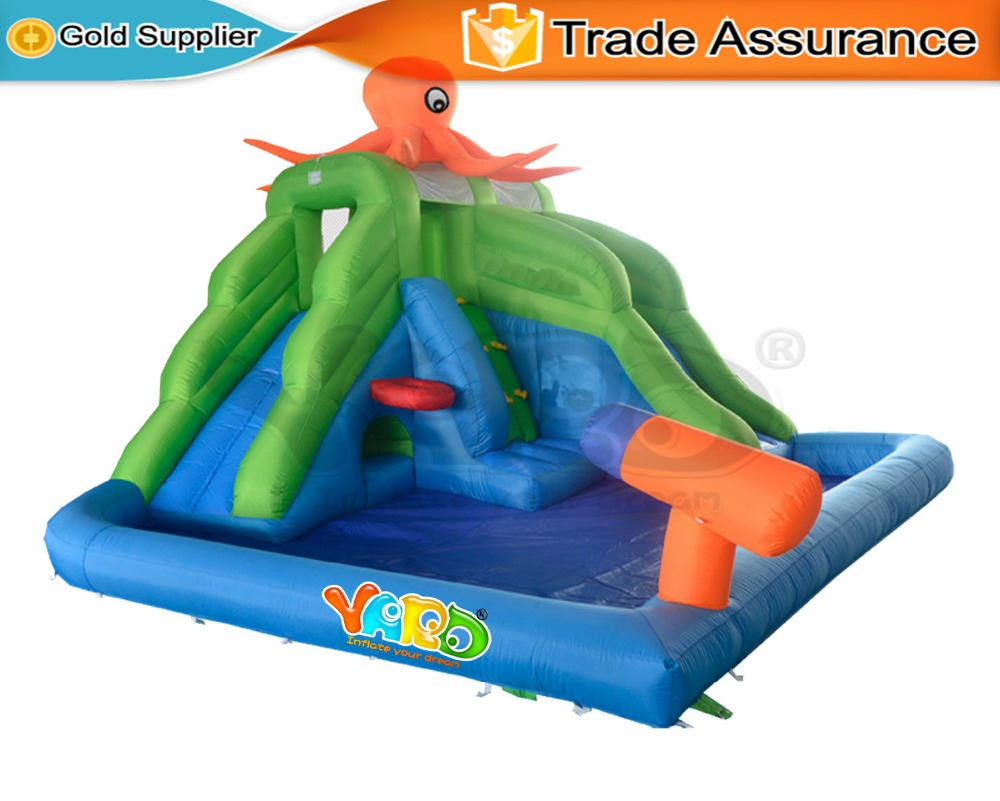 yard summer cool inflatable toys water slide swimming pool bounce
