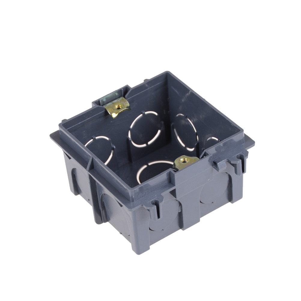 Black Plastic Wall Plate Wall Mount Junction Box Type 86 Switch Cassette Outlet Wall Switch Box,enclosure Flush Box