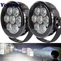 6 дюймов 70 Вт светодиодный свет круглый дальнего 12 В 24 В пятно лампы вспомогательный передний бампер на крыше свет Offroad Мотоцикл Off Road туман
