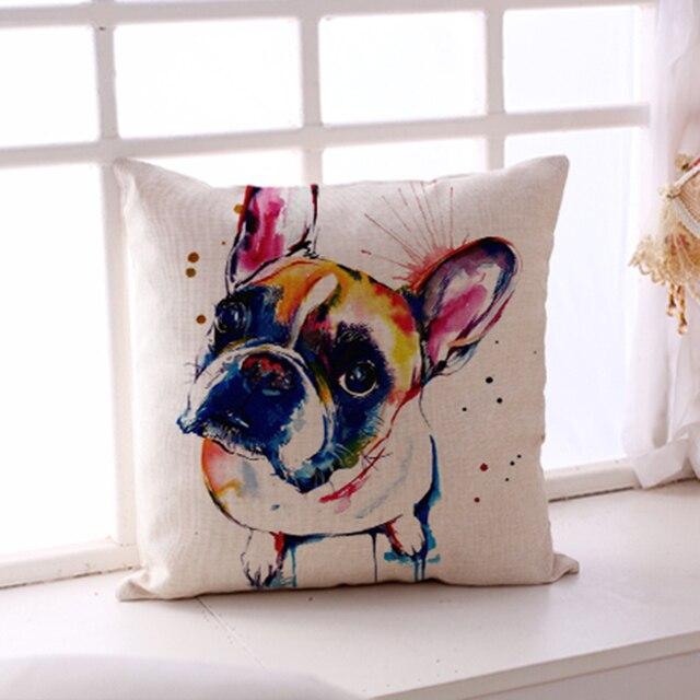 French Bulldog Printed Sofa 2