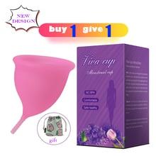 Menstrual Cup for Women silicona medica reusable colletor menstrual Health Care Reusable Vaginal Medical Grade Silicone