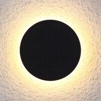 Led ウォールライト 10 ワット燭台屋外防水中庭現代表面実装黒円形一部地域送料無料