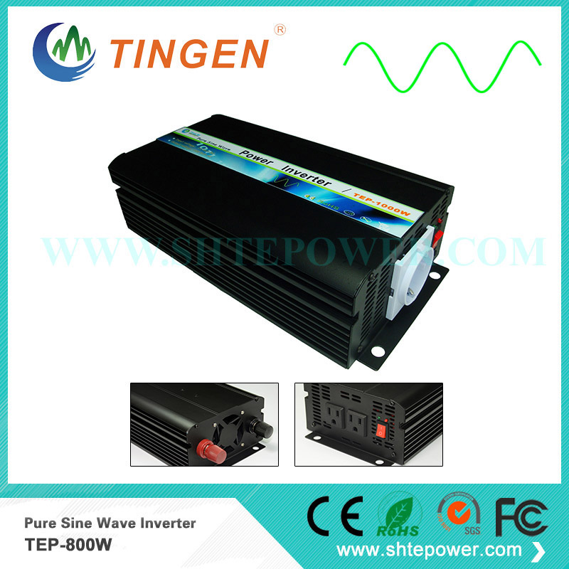 цена на power inverter 12V to 220V Pure sine wave output off grid tie system 800W TEP-800W for home system use fast delivery