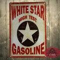T-Ray Белая Звезда Высокой Пробы Бензина Металлический Знак/Плакат человек пещера, Hot Rod