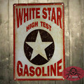 T-Ray White Star High Test Gasoline Metal Sign/Poster man cave, Hot Rod