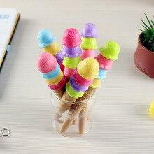 24pcs kawaii 볼펜 패션 소녀 스타 크리 에이 티브 아이스크림 롤 펜 학교 용품 사무 용품 한국 문구