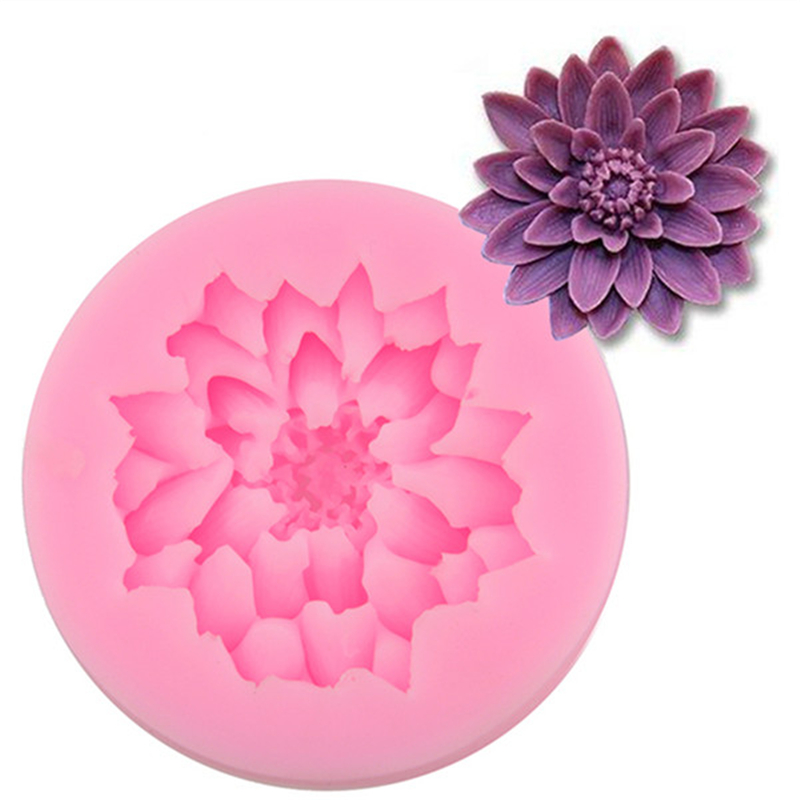 Red Lotus Cake Design : Lotus Flowers Shape Chocolate Candy Silicone Cake Mold 3D ...