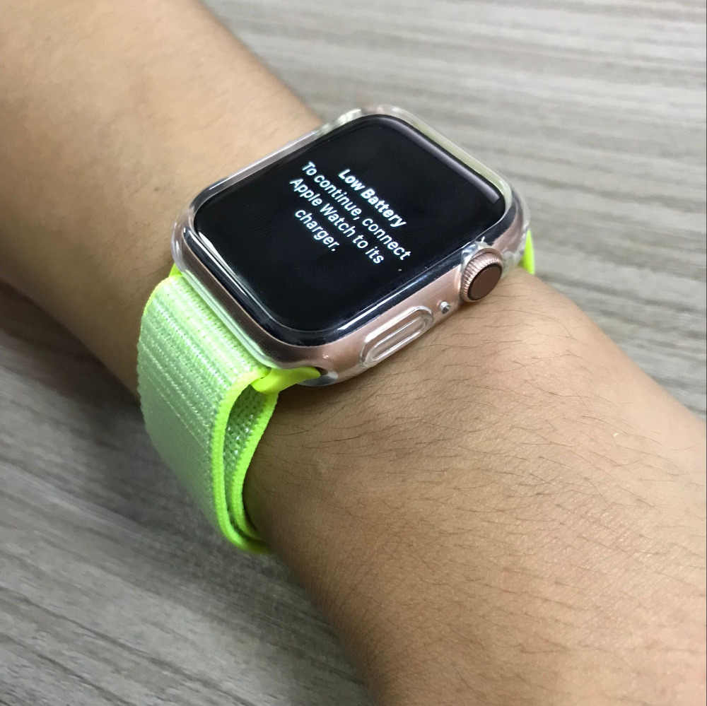 big sale 05520 70b71 Compatible With Apple Watch Series 4 40mm /44mm Clear Case Cover Series  1/2/3 38mm/42mm Transparent Color Bumper Case