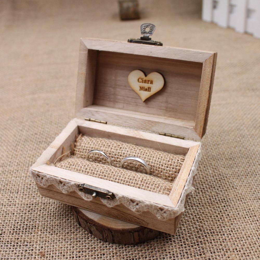 ᐂRustic Wedding Ring Box Holder ,Custom Ring Box, Personalized ...