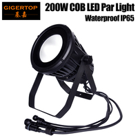 Gigertop TP P108 Waterproof 200W COB Led Par Light Cold White/Warm White/RGBW/RGBWA UV Color Outdoor LED Par Can Stage Light