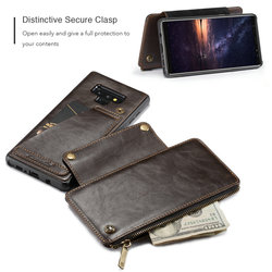 For Samsung note 9 CaseMe Leather Phone Case For iPhone 6 8 Leather Wallet Card Slots Stand Cover For iPhone X Case iPhone 7 4