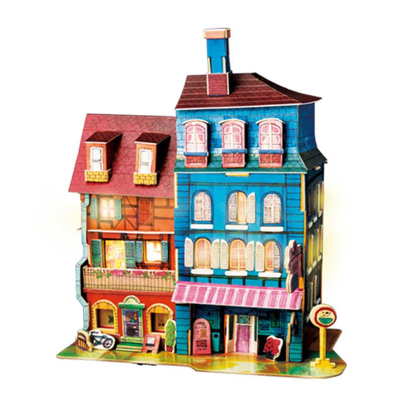 Robotime Новое поступление 8 видов DIY Кукольный дом со светодиодной подсветкой Детские Взрослые Деревянные маленькие модели строительный кукольный домик SJ